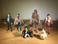 2002 - Modern - STAR WARS - Hasbro - Lot of 6 - Heroes - Assorted figures - A