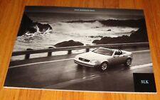 Original 2000 Mercedes Benz SLK-Class Deluxe Sales Brochure 230 Kompressor