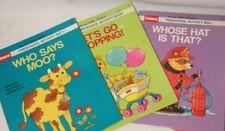 Lot of 3 Vintage Playschool Preschool Activity Book 1989 Golden Book Kids Child