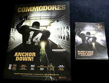 Vanderbilt Commodores SEC 2014 Schedule Football College Poster Program limited