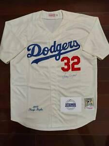 SANDY KOUFAX signed Los Angeles Dodgers Jersey STEINER COA