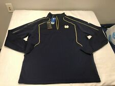 NWT $65.00 Under Armour Mens Notre Dame 1/4 Zip Pulover Shirt Navy Size 3XL