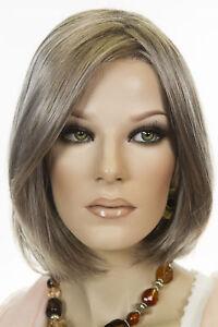 Kristen Short Bob Lace Front Jon Renau Straight Blonde Brunette Grey Cool Wigs