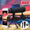 40x60 HD Télescope Jumelle Monoculaire Vision Nocturne + Téléphone Clip *