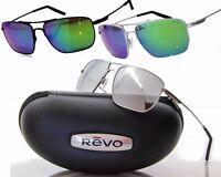 NEW REVO GROUND SPEED SUNGLASSES Black/Green Mirror-Chrome/Stealth Groundspeed