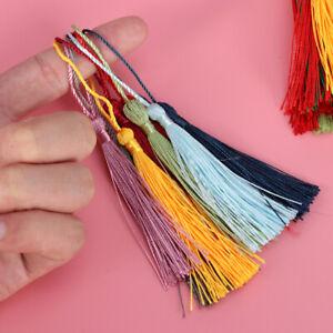 100/200pcs Handmade Silky Chinese Knot Tassels Bookmark Gift Tag DIY Craft