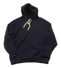 Polo Ralph Lauren Men's Cruise Navy Cotton Blend Fleece Lined Pullover Hoodie