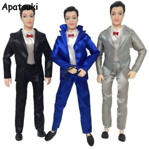 1SET Clothes For Ken Doll Male Business Wedding Suits Doll Accessories Kids Toy