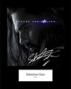 SEBASTIAN STAN #1 Signed Photo Print 10x8 Mounted Photo Print - FREE DELIVERY