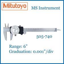 "Genuine New Mitutoyo 505-740 Dial Imperial Caliper 6 Inch 6""    Australia Stock"