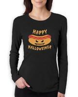 Happy Halloweiner Funny Hot Dog Halloween Women Long Sleeve T-Shirt JACK O