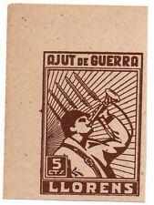 Sello Local Guerra Civil Llorens -Cat. No Catalogo.  ORD:787