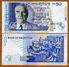 Mauritius, 50 rupees, 1998, P-43 UNC Error, Withdrawn