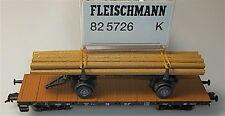 Flachwagen LÄNDLICHE BAHNFRACHT DB Ssk WIKING Fleischmann 82 5726 K H0 1:87 LB4µ