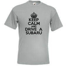 KEEP CALM AND DRIVE A SUBARU Mens Funny Impreza 4WD T Shirt Tee Top Gift Present