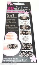 20 Easy & Instant Nail Stickers Fashion Nails Nail Art Fingers Toes Nip 03