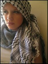 Black Arafat Shemagh Scarf Arab Tassels Winter Muffler