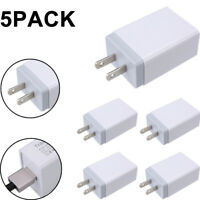 5x QC2.0 USB Wall Charger Adapter Quick Fast Charge Travel For iphone Android