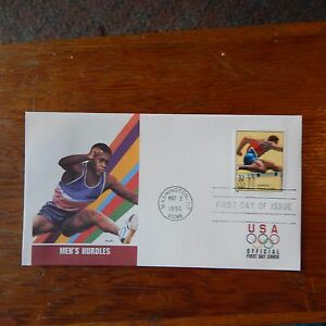 Estate Find - FDC OLYMPICS,Men's Hurdles May 2, 1996 Centennial Games