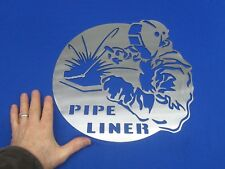 New listing Pipe Liner Steel Sign Fits Doors Lincoln Welder Sa 200 250 Sae 300 400 Man cave