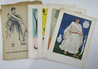 Vtg Abbott Laboratories Advertising Medical History Costumes Art Prints Set 1962