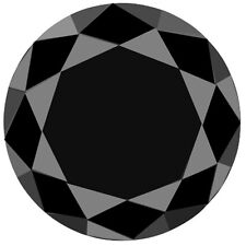 4.00 ct NATURAL LOOSE DIAMOND OPAQUE BLACK ROUND BRILLIANT CUT FRM AFRICA N R $$