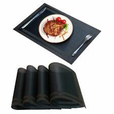 """Placemats Table Mats Woven Vinyl PVC Heat Resistant Placemats Decor 18""""x12"""",4pcs"""