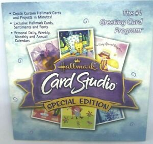HALLMARK CARD STUDIO SPECIAL EDITION GREETING CARD MAKER PROGRAM