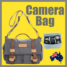 Professional DSLR Camera Bag 3 lenses one body Flash Canon Nikon Sony OZ Stock