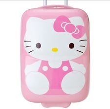 Sanrio Hello Kitty 3D Travel Luggage Suitcase Carry Bag Pink NEW! RARE