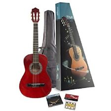 NEW-SALE-FREE P&P-Stagg C510TR Acoustic GUitar Pack 1/2 - TRANSPARENT RED-