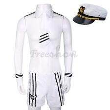 Men's Sexy Lingerie Adult Uniform Sailor Cosplay Dress Costume Party Nightwear