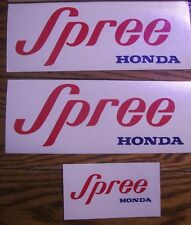 HONDA SPREE (RED) DECALS
