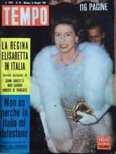 Rivista TEMPO - N° 19 - 13 MAGGIO 1961  GINA LOLLOBRIGIDA -  TEP-008