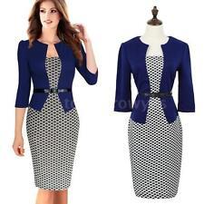 Cotton Blend Checked Regular Size Dresses for Women