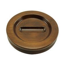 Wood Piano Caster Cups - Medium Size - Walnut Satin
