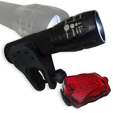 LED Fahrradbeleuchtung Set Focus 2000 fach ZOOM 3 Watt inkl Rücklicht Flashlight