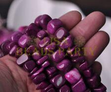 1 Strand 35'' Purple Natural Stone Gemstone Free Form Rocks 9~13mm Chips Beads