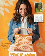 ~ Knitting Pattern For Lady's Beautiful Aztec-Inspired Geometric Design Bag ~
