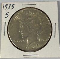 1935 S Peace Silver Dollar AU++ Super Nice Rare Coin!