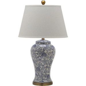 Spring 29 In. Blue/White Table Lamp