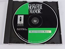 Escape from Monster Manor video game Panasonic 3DO 1993 rare horror Electronic