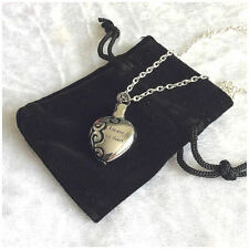 Always In My Heart Stainless Steel Cremation Jewellery Ashes Urn Necklace