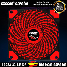 VENTILADOR PARA CAJA PC ORDENADOR GAMING 12CM 33LEDS COOLER FAN - MARCA ESPAÑA