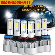 9005 + H11 + 9006 6000K 4500W 675000LM Combo CREE LED Headlight Kit Hi Low Bulbs