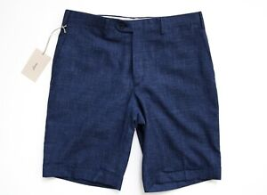 $675 BRIONI Blue Linen Blend Spring Summer Dress Golf Shorts Size 38 US 54 Euro