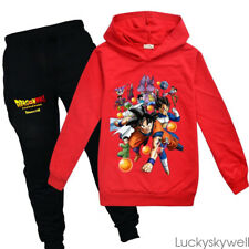2PCS Gifts Dragon Ball Kids Boys Girls Clothes Sweatshirt Hoodie Top Coat +Pants