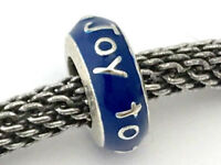 Brighton Joy To The World Spacer, JC1541, Silver Finish with Blue Enamel, New