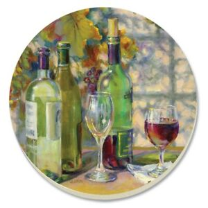 Set-of-4 Counter Art Absorbent Stoneware Coasters 14174 - Vintage Wine