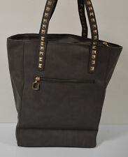 New Fashion Woman Lady Shoulder Tote Bag Purse HandBag Grey Taupe
